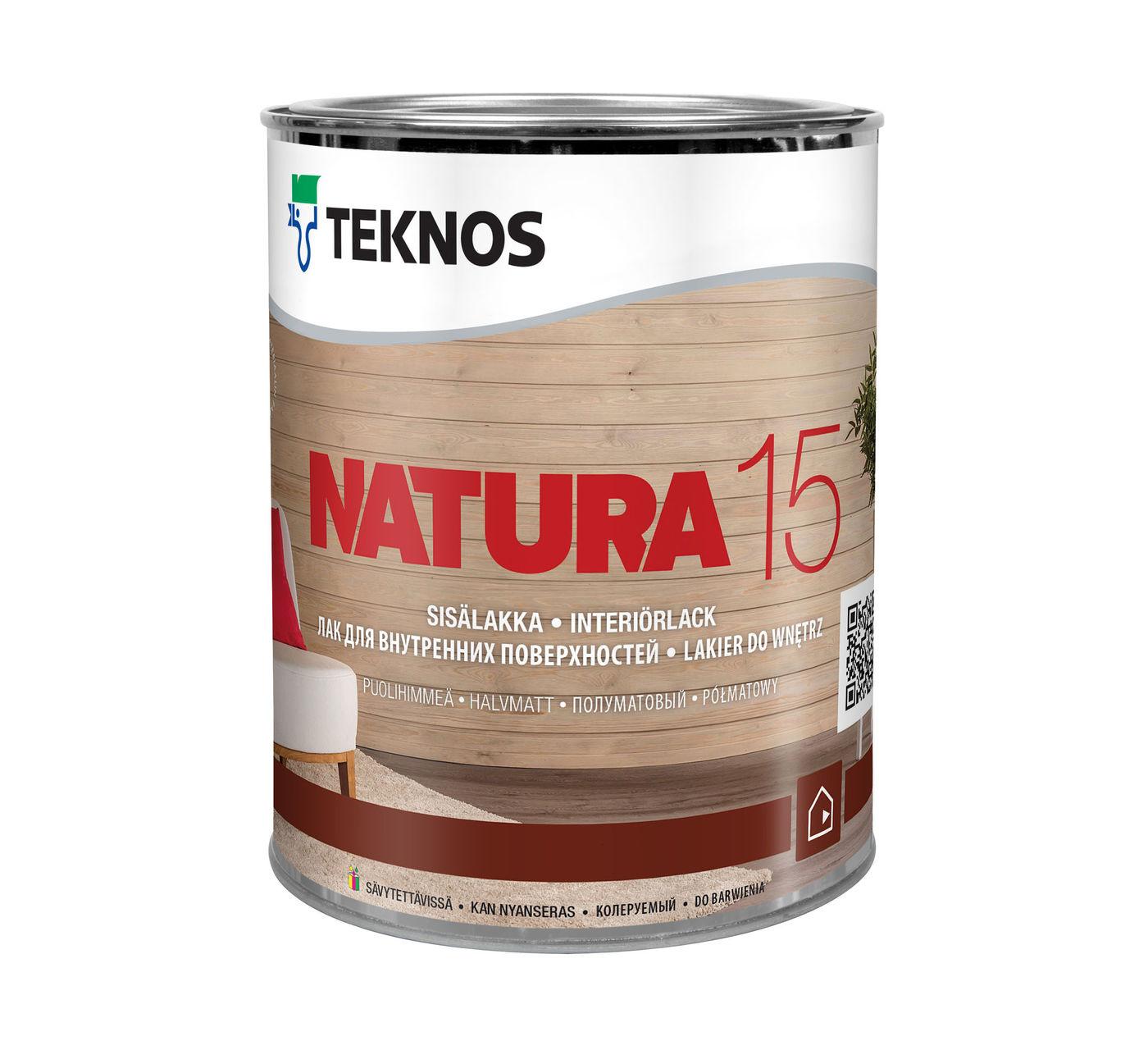 NATURA 15 полуматовый лак для внутренних поверхностей