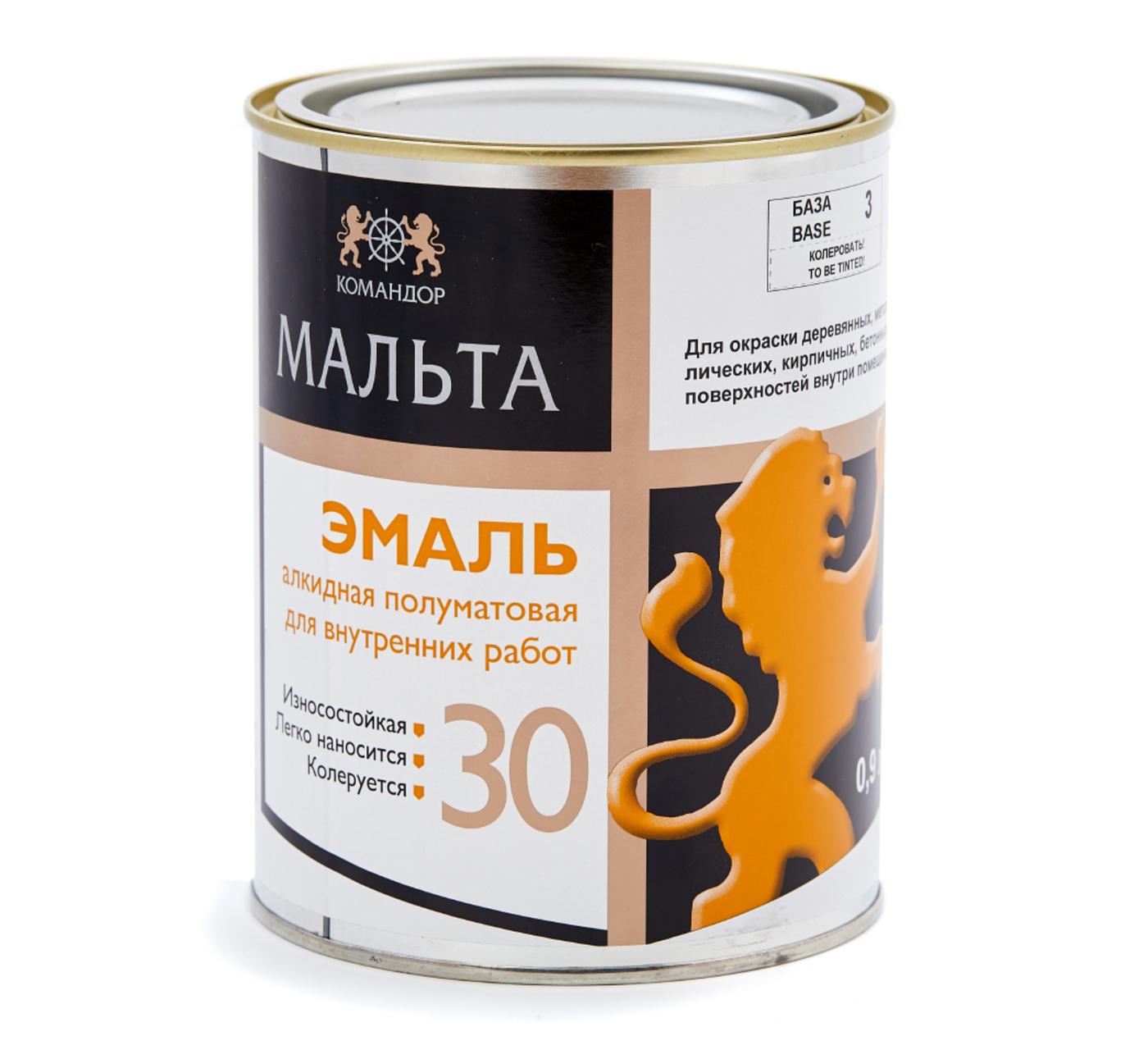 МАЛЬТА 30 эмаль алкидная полуматовая