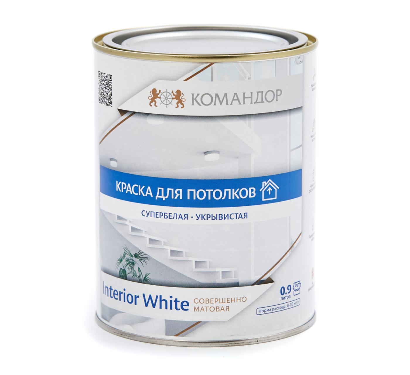 INTERIOR WHITE краска для потолков