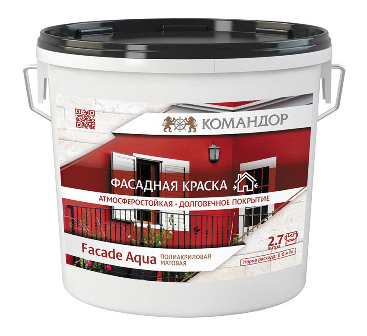 FACADE AQUA водно-дисперсионная фасадная полиакриловая краска ТУ 20.30.11-069-93296022-2016