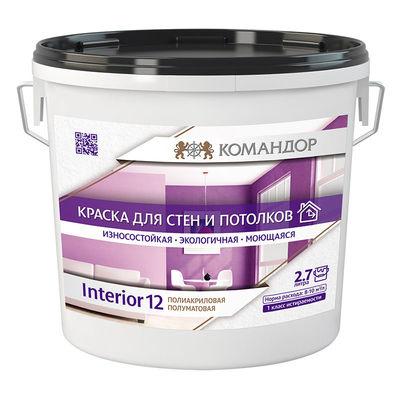 INTERIOR 12 водно-дисперсионная полиакриловая краска для стен и потолков