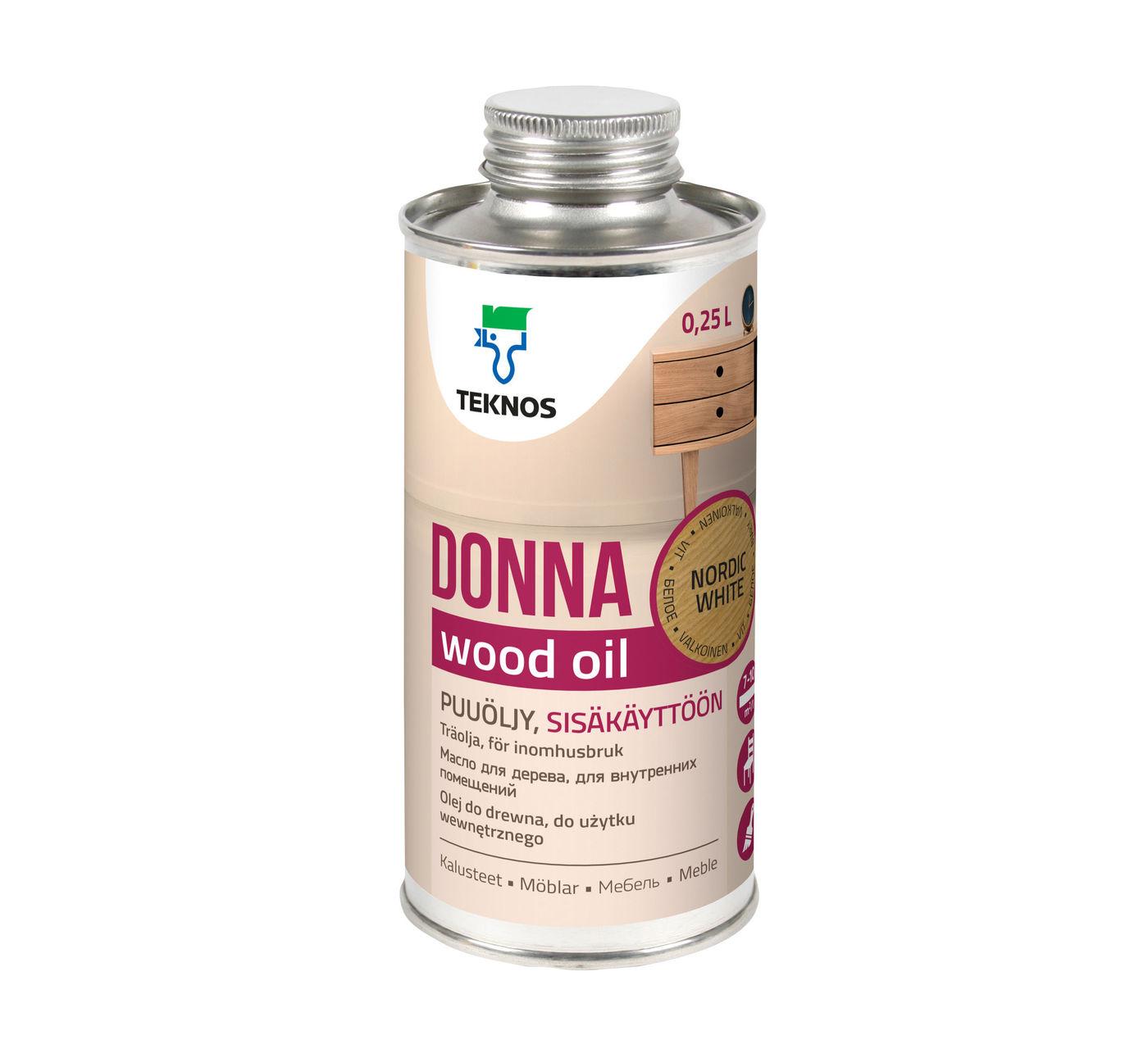DONNA NORDIC WHITE масло для мебели
