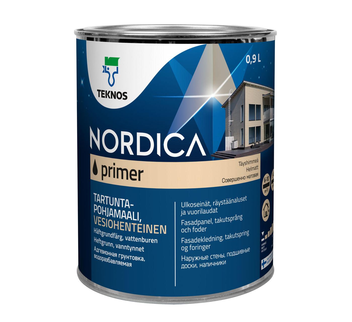 NORDICA EKO PRIMER водоразбавляемая алкидная грунтовочная краска