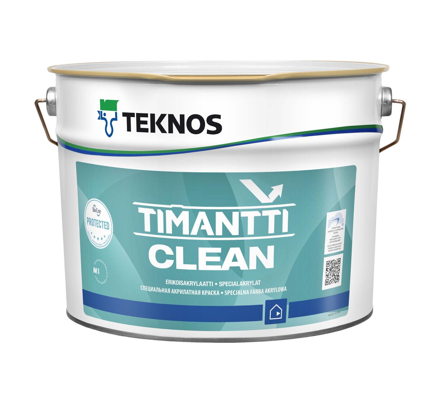 TIMANTTI CLEAN краска антимикробная для внутренних работ