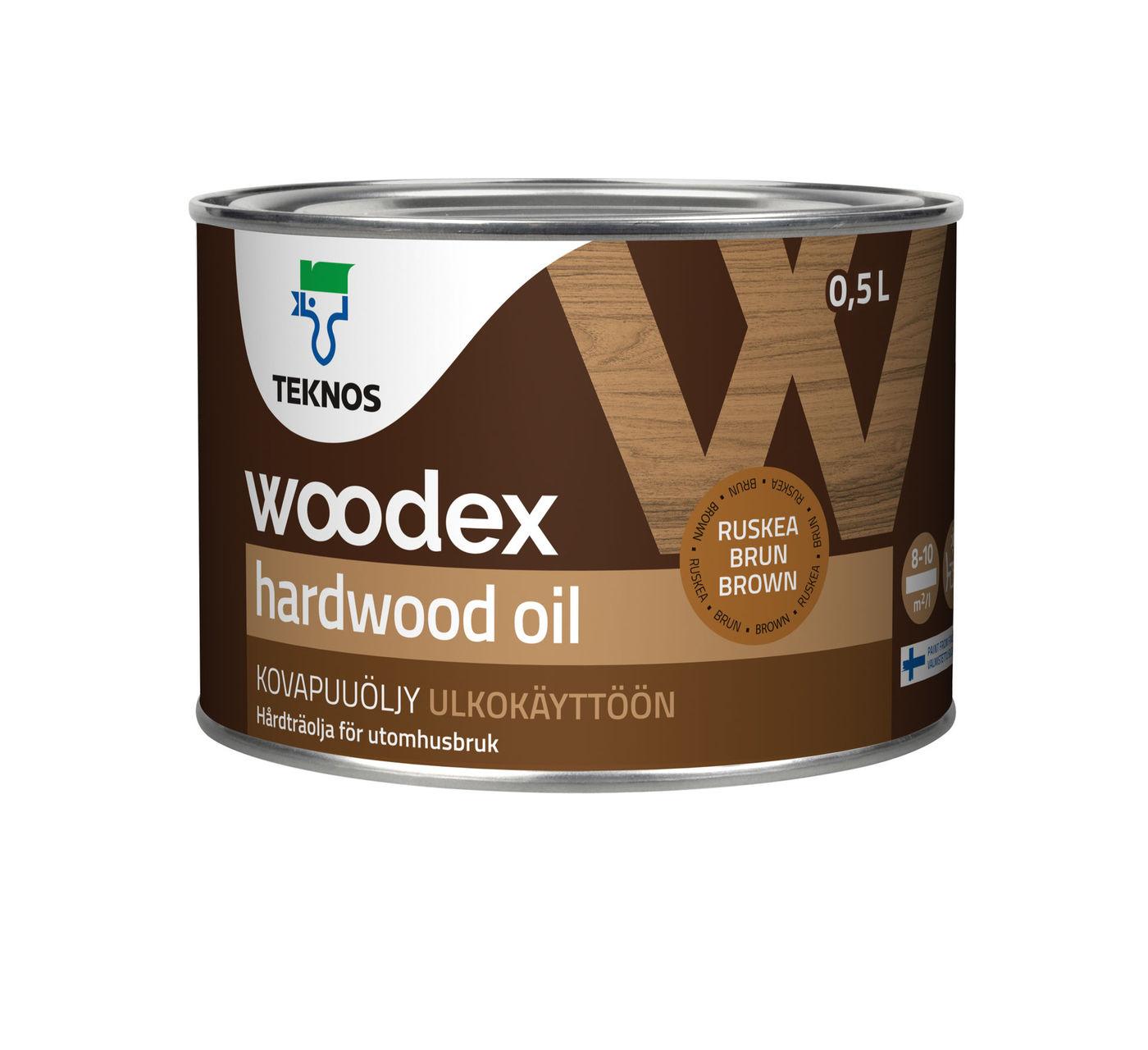 WOODEX HARDWOOD OIL Масло для твердых пород древесины коричневый